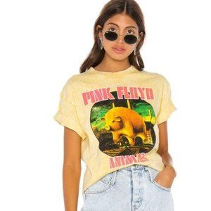 DayDreamer Pink Floyd Animal Graphic Knit Tee S